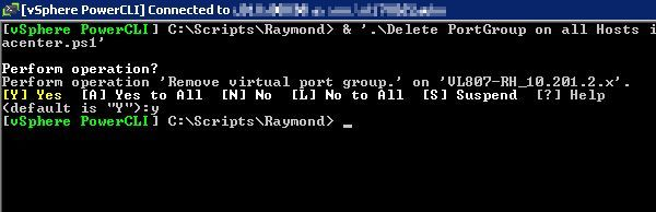 Remove Virtual Portgroup from Hosts in a Datacenter